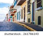 old san juan  puerto rico ... | Shutterstock . vector #261786143