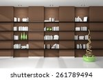 3d rendered modern interior... | Shutterstock . vector #261789494