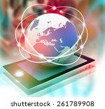 global networking of business      Shutterstock . vector #261789908