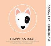 bull terrier logo. | Shutterstock .eps vector #261790010