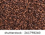 coffee beans on the table... | Shutterstock . vector #261798260