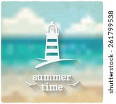 marine background with... | Shutterstock .eps vector #261799538