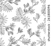 seamless floral vector pattern  ... | Shutterstock .eps vector #261800096
