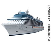 cruise ship | Shutterstock .eps vector #261808274