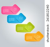infographics template for... | Shutterstock .eps vector #261812240