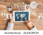 business  people  international ... | Shutterstock . vector #261818924