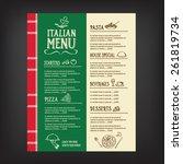 restaurant cafe menu  template... | Shutterstock .eps vector #261819734