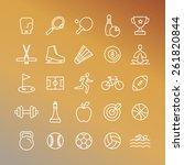Vector Sport Linear Icons   Se...
