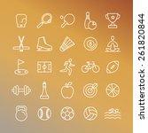vector sport linear icons   set ... | Shutterstock .eps vector #261820844