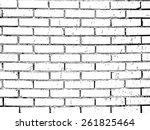 vector brick wall texture... | Shutterstock .eps vector #261825464