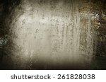 rusty metal plate   Shutterstock . vector #261828038
