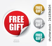 free gift sticker and tag  ... | Shutterstock .eps vector #261836834