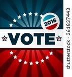 patriotic 2016 voting poster... | Shutterstock .eps vector #261837443