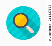 magnifier glass flat icon with...