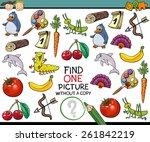 cartoon illustration of finding ... | Shutterstock . vector #261842219