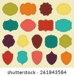 set of colorful blank labels... | Shutterstock .eps vector #261843584