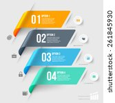 modern infographics element... | Shutterstock .eps vector #261845930