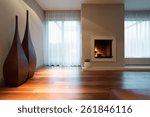 Burning Fireplace And Designed...