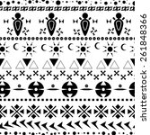 native seamless pattern. vector. | Shutterstock .eps vector #261848366