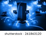 cloud computing network  ... | Shutterstock . vector #261863120