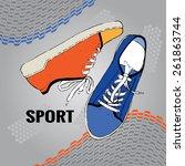 sneakers | Shutterstock .eps vector #261863744