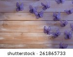 paper out butterflies  on...   Shutterstock . vector #261865733