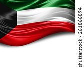 kuwait flag and white... | Shutterstock . vector #261866894