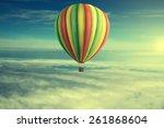 air balloon on sky | Shutterstock . vector #261868604