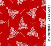 seamless pattern of christmas... | Shutterstock .eps vector #261872054