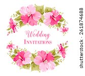 marriage invitation card with... | Shutterstock .eps vector #261874688