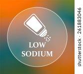 low sodium icon. internet... | Shutterstock . vector #261883046