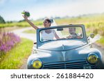 A Newlywed Couple Is Driving A...