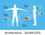 vector illustration of medicine ... | Shutterstock .eps vector #261891353