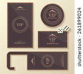 premium set of luxurious vip... | Shutterstock .eps vector #261899024