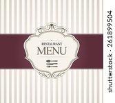 restaurant menu cover design.... | Shutterstock .eps vector #261899504