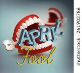 cool vector april fool's day... | Shutterstock .eps vector #261902786