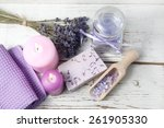 bathroom with lavender | Shutterstock . vector #261905330