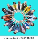 people unity community... | Shutterstock . vector #261910304