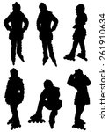 collection of silhouettes of...   Shutterstock .eps vector #261910634