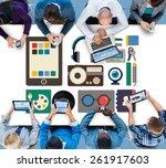 identity trademark copyright... | Shutterstock . vector #261917603