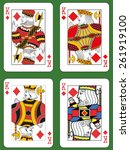 Four Kings Of Diamonds In Four...