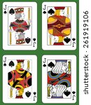 four jacks of spades in four... | Shutterstock .eps vector #261919106