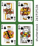 four kings of clubs in four... | Shutterstock .eps vector #261919136