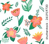 seamless floral pattern.... | Shutterstock .eps vector #261919730