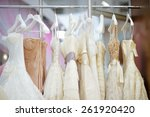 a few beautiful wedding dresses ... | Shutterstock . vector #261920420