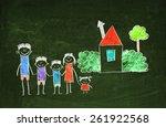 happy family | Shutterstock . vector #261922568