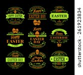 set easter holiday typography.... | Shutterstock .eps vector #261923834