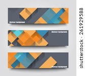 set of banner templates with... | Shutterstock .eps vector #261929588