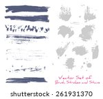 a set of brush strokes and... | Shutterstock .eps vector #261931370