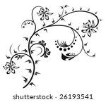 floral element vector | Shutterstock . vector #26193541